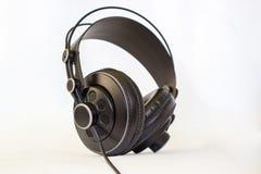 Ilustración negra de los auriculares Imagen de archivo libre de regalías