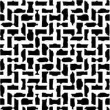 Ilustración negra y blanca abstracta Imágenes de archivo libres de regalías