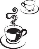 Ilustración o café de la taza de té