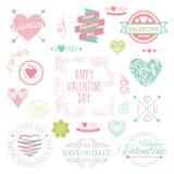 Ilustración para el día de tarjeta del día de San Valentín Fotografía de archivo