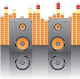 Ilustración para el tema musical Imagen de archivo libre de regalías