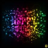 Ilustración para la tarjeta del feliz cumpleaños ilustración del vector