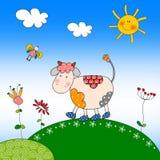 Ilustración para los niños - vaca Imagen de archivo libre de regalías
