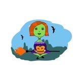 Ilustración para Víspera de Todos los Santos Imagen de archivo libre de regalías