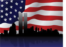 Ilustración patriótica del 11 de septiembre Fotografía de archivo libre de regalías