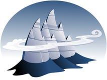Ilustración pedregosa de la montaña Imagen de archivo libre de regalías