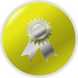 Ilustración premiada del símbolo del botón del vector Fotos de archivo libres de regalías