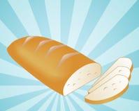 Ilustración rebanada del pan Fotografía de archivo libre de regalías
