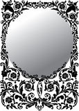 Ilustración redonda gris del marco Fotografía de archivo libre de regalías