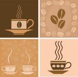 Ilustración relacionada del café ilustración del vector