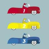 Ilustración retra de los coches Imágenes de archivo libres de regalías