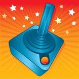 Ilustración retra del vector de la palanca de mando de los juegos del estilo Imagenes de archivo