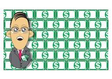 Ilustración rica del hombre de negocios Imagen de archivo libre de regalías