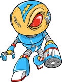 Ilustración robótica del vector del guerrero Fotos de archivo