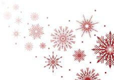 Ilustración roja de los copos de nieve stock de ilustración