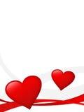 Ilustración roja de los corazones Foto de archivo libre de regalías