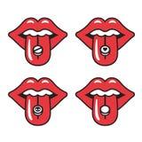 Ilustración roja de los labios libre illustration