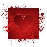 Ilustración roja del corazón Foto de archivo libre de regalías