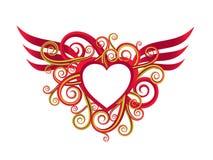 Ilustración romántica de la tarjeta del día de San Valentín ilustración del vector