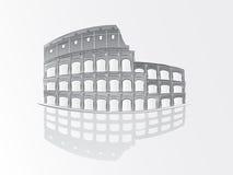 Ilustración romana del colosseum Fotografía de archivo