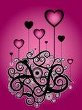 Ilustración rosada de la tarjeta del día de San Valentín libre illustration