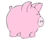 Ilustración rosada del cerdo   Imágenes de archivo libres de regalías