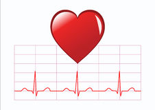 Ilustración sana del corazón Imagen de archivo