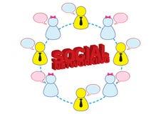 Ilustración social del establecimiento de una red Imagen de archivo libre de regalías