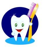 Ilustración sonriente feliz del diente Fotografía de archivo libre de regalías