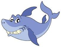 Ilustración sonriente linda del vector del tiburón Foto de archivo