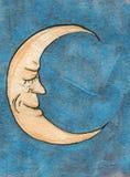 Ilustración Sonrisa creciente de la luna Imagenes de archivo