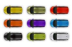 Ilustración superior del coche Imagen de archivo