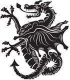 Ilustración tribal del vector del dragón del tatuaje libre illustration