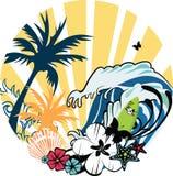 Ilustración tropical Foto de archivo