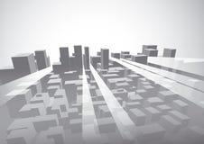 Ilustración urbana del vector de la visión Fotografía de archivo libre de regalías