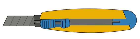 Ilustración utilitaria del cuchillo stock de ilustración