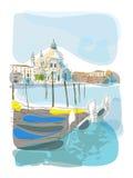 Ilustración veneciana del verano ilustración del vector