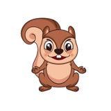 ilustraci śliczna wiewiórka zdjęcie stock