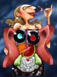 ilustraci żeński przyjęcie Obrazy Royalty Free