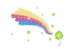 Ilustraci Cztery liścia koniczyny tęcza kształt Fotografia Royalty Free