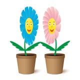 Ilustraci dwa kwiaty. Zdjęcie Royalty Free