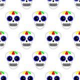 Ilustraci?n del vector Modelo incons?til D?a de los muertos Iconos del di?metro de los muertos en el fondo blanco Fije de sculls  libre illustration