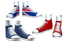ilustraci odosobneni par sneakers Fotografia Royalty Free