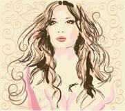 ilustraci piękna kobieta s Obrazy Stock