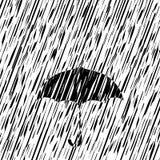 ilustraci podeszczowy parasola wektor Zdjęcia Stock