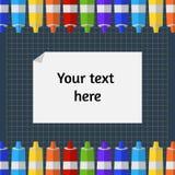 Ilustraci ramy tubki farba na macie dla ciąć papier ilustracji