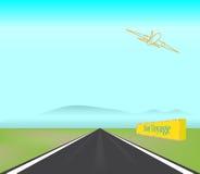 ilustraci strumień z samolot pasażerski pas startowy wp8lywy Fotografia Royalty Free