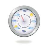 ilustraci zegarowa pogoda Fotografia Stock
