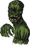 Ilustración asustadiza del zombi de los undead Foto de archivo libre de regalías