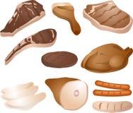 Ilustración cocinada de la carne Imagen de archivo libre de regalías